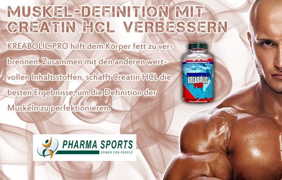 Muskel Definition mit Creatin HCL verbessern