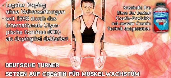 Deutsche Turner Creatin für Muskelwachstum